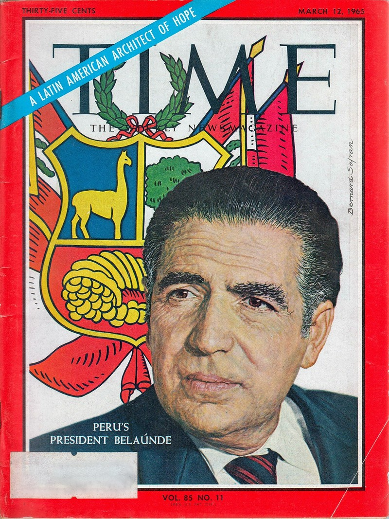 00 Time Magazine Cover March 1965 - Belaunde A Latin American Architect of Hope