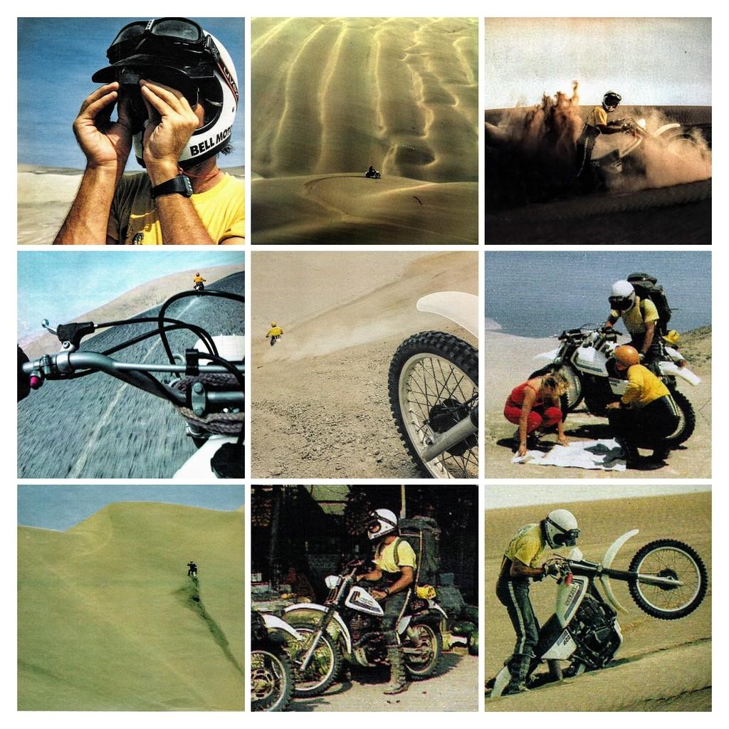 040 Enduro în Deșertul dintre Paracas și Ica în 1981