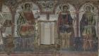 Detaliu pictură restaurat