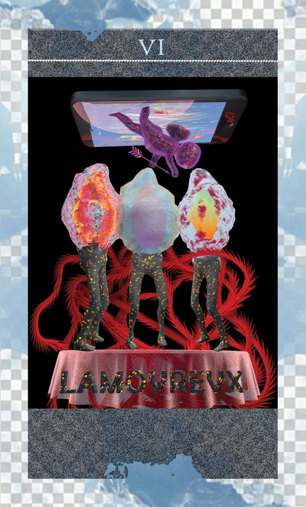 Taietzel ticalos, lucrare The TechnoVision Deck sau romana Pachetul de cărți de tarot TechnoVision