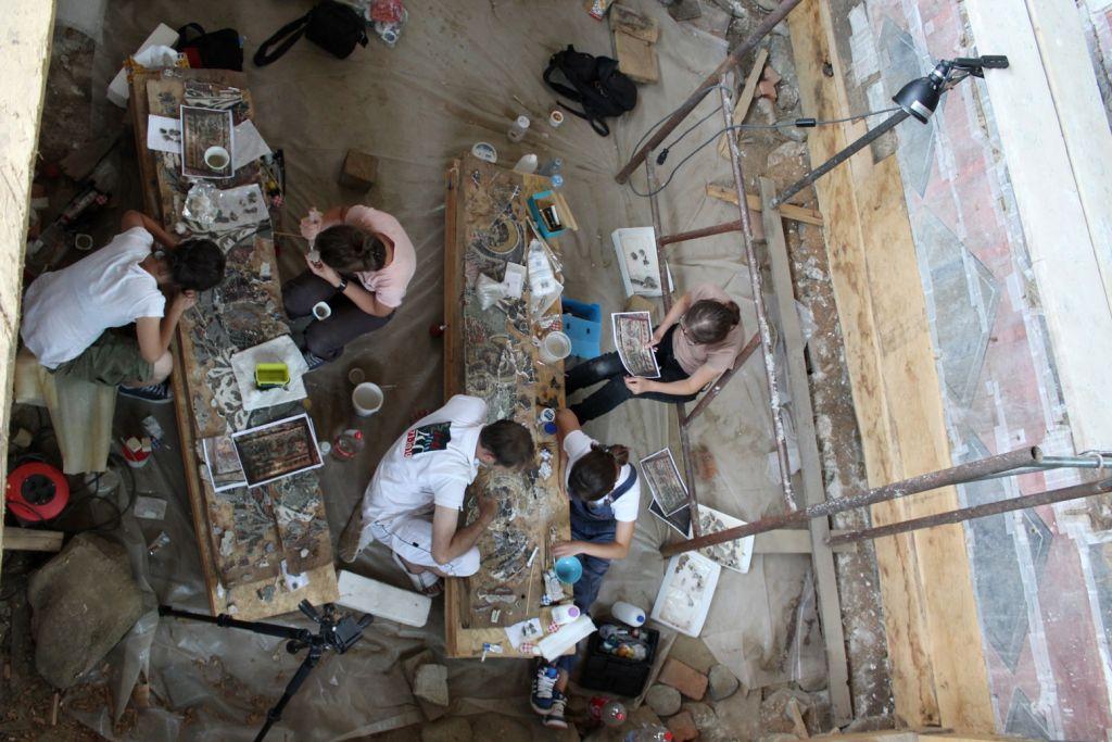 Restaurare fragmente frescă