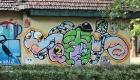 Artist: Creaturi drăguțe - România. Festival Internațional de Graffiti Timișoara 2011. Locul desfășurării: Parcul Central - Uszoda