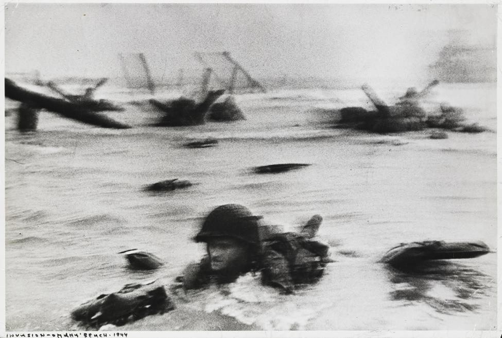 """Omaha Beach, Normandy, France"", Robert Capa, 1944."