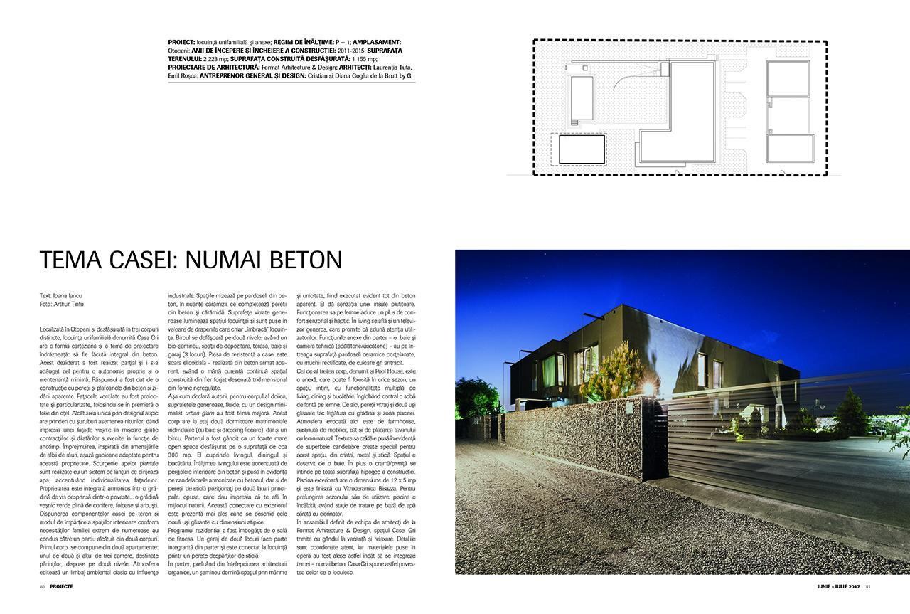 Locuință unifamilială și anexe, Format architecture & Design