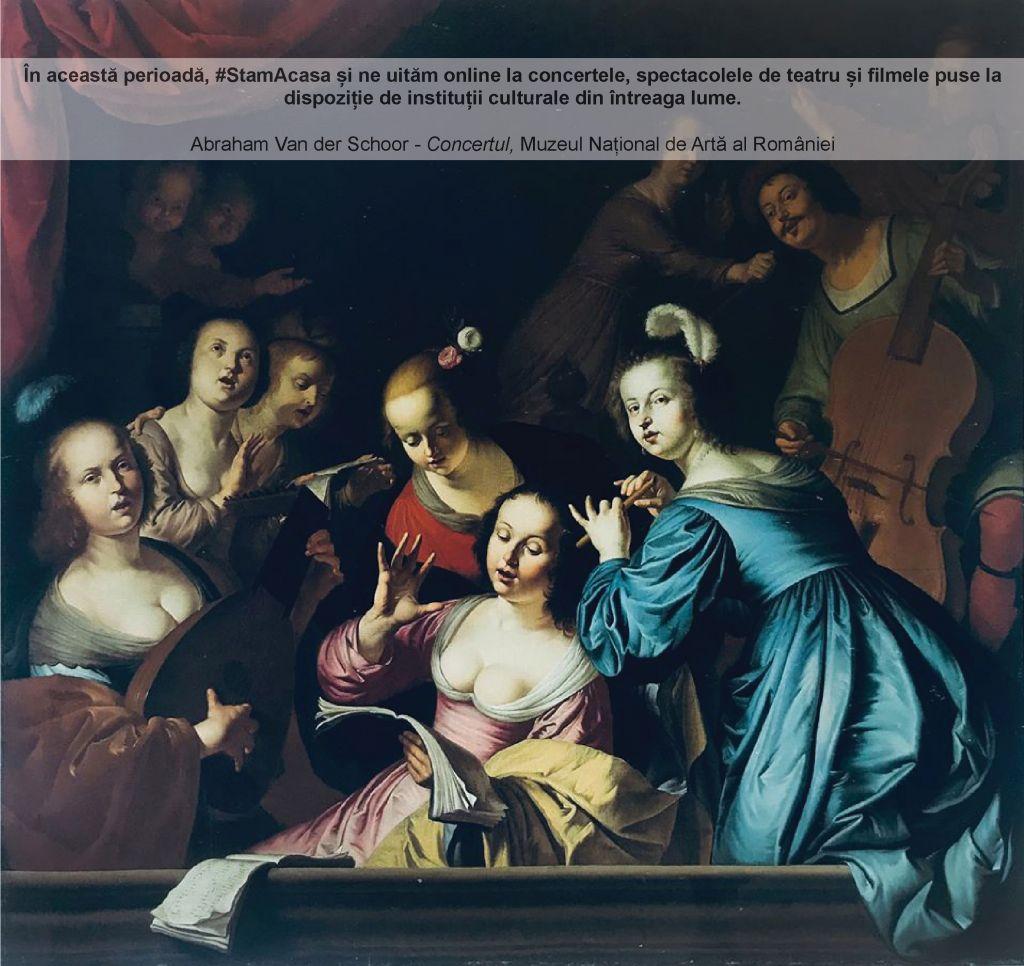 """Abraham van der Schoor, """"Concertul"""", MNAR"""
