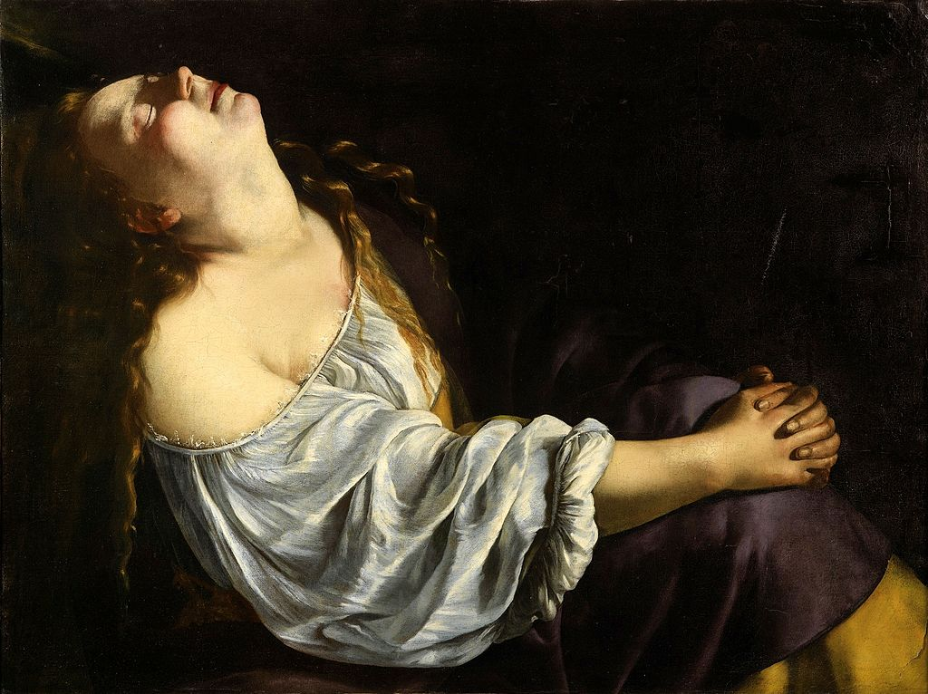 Artemisia_Gentileschi, Maria Magdalena în extaz