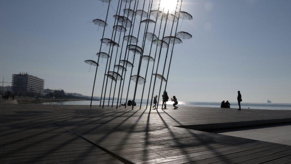 """""""Umbrelele din Salonic"""", latura estică"""