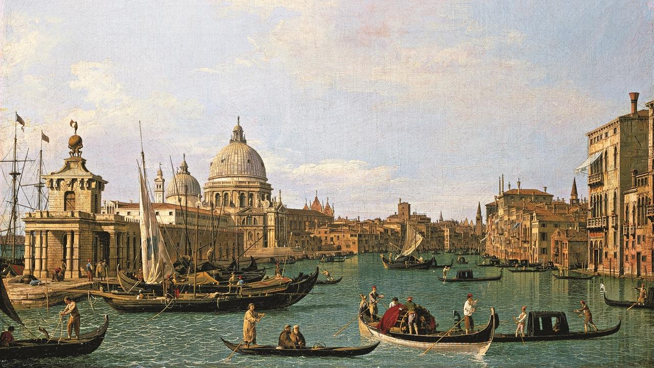 Canaletto, Intrarea către Marele Canal, Veneția (1731-1736). Din colecția Woburn Abbey.