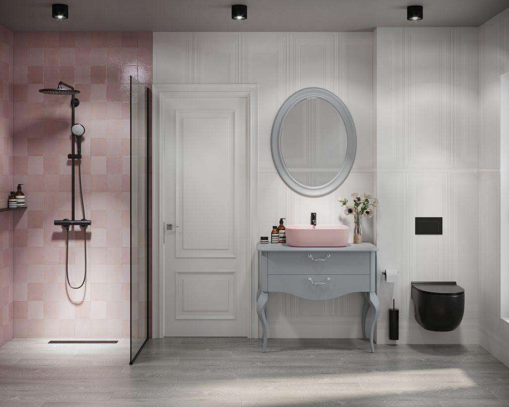 Design baie - lavoar COLOR roz
