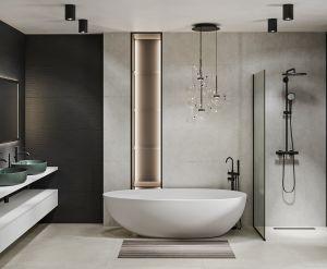 Design baie - lavoar COLOR verde (2)
