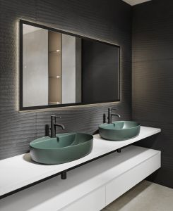 Design baie - lavoar COLOR verde (3)