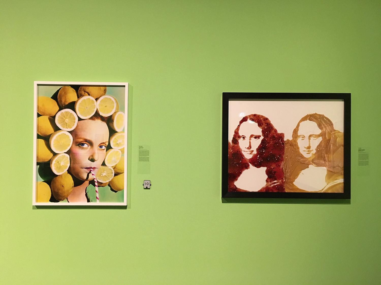 Stânga: Ouka Leele, Peluquería, 1979, C-Print © Ouka Leele; Dreapta: Vik Muniz, Double Mona Lisa, After Warhol (Peanut Butter + Jelly) © Vik Muniz/VAGA, NY