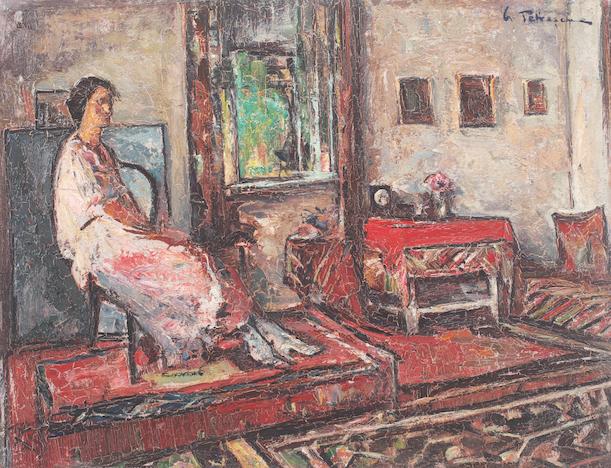 Lucreţia în interior - Gh. Petrașcu, colecție privată