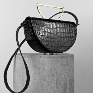 Maestoso ZAHA Black Croco Bag