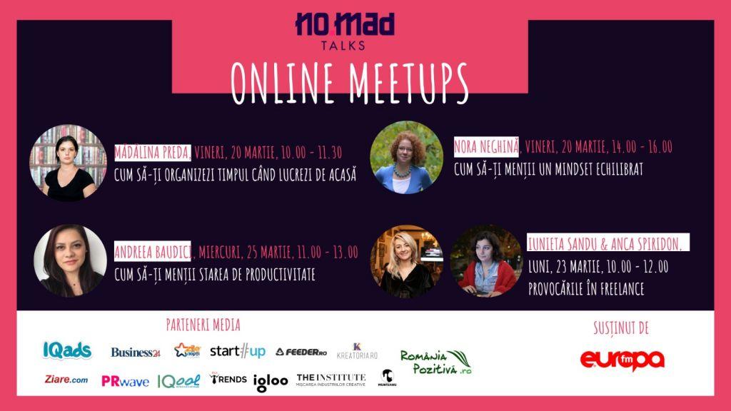 NO.MAD Talks lansează Online Meetups