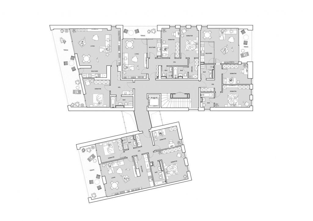 Origami Residence - Plan etaj curent