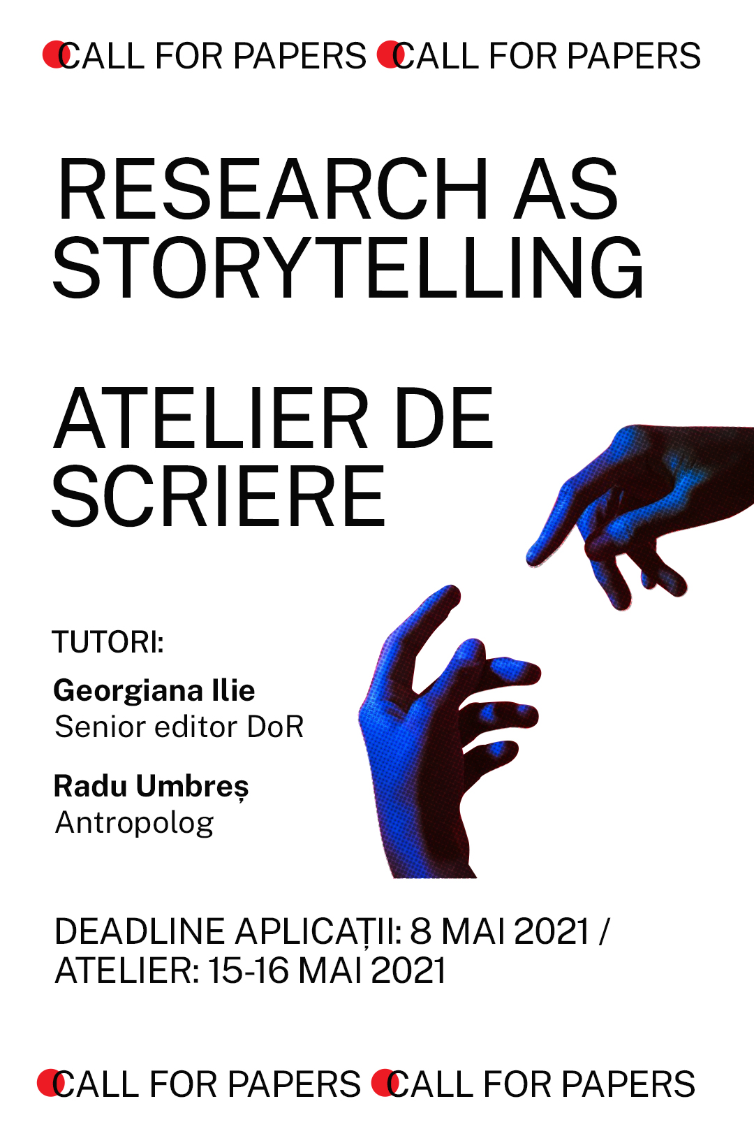 Poster Call Atelier Scriere