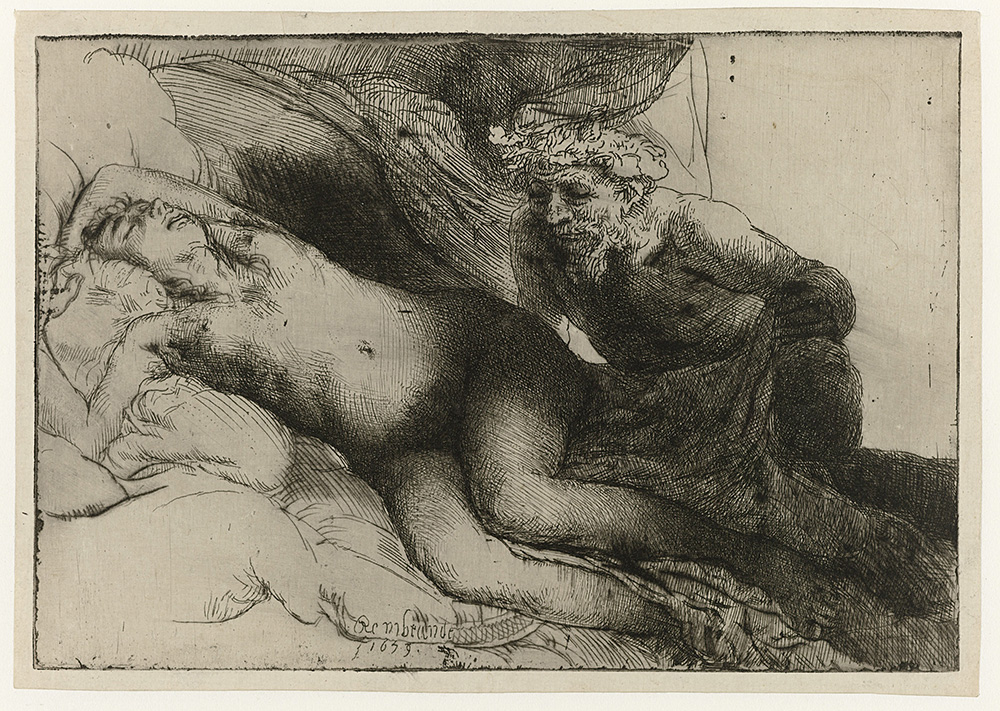 Rembrandt van Rijn, Jupiter and Antiope, 1659. Courtesy of Rijksmuseum