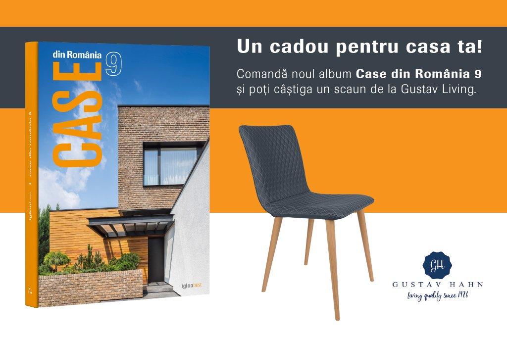 """UPDATE: Noul album """"Case din România 9"""" îți poate aduce un scaun de la Gustav Living"""
