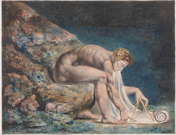 William Blake, Newton 1795–c.1805. Courtesy of Tate