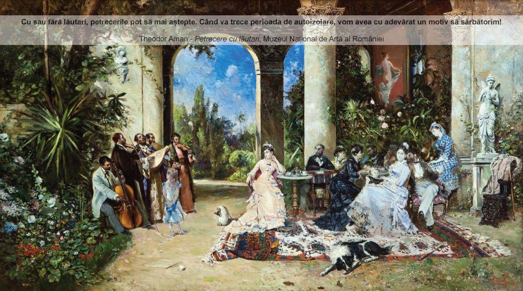 "Theodor Aman, ""Petrecere cu lăutari"", MNAR"