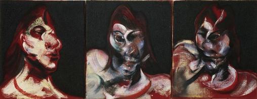 Three Studies for the Portrait of Henrietta Moraes, 1963