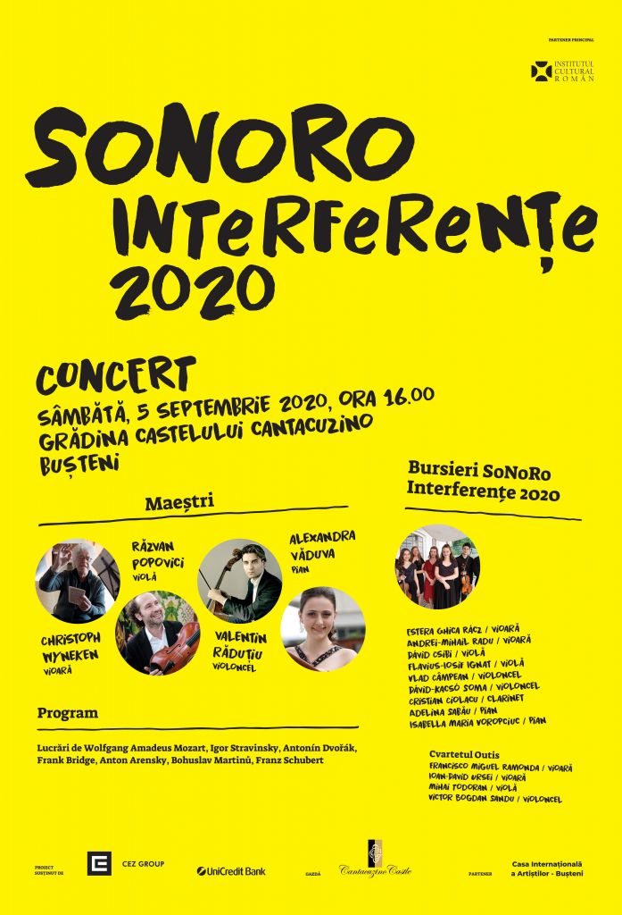 afis Interferente Concert Cantacuzino Busteni