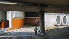 Cale de acces spre Centrul Internațional de Congrese din Berlin. Arhitecți: Ralf Schüler & Ursulina Schüler-Witte (1979)