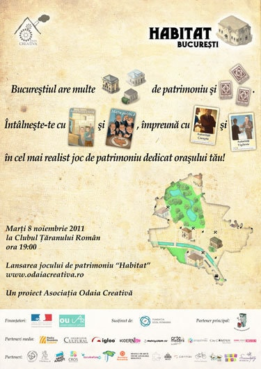 """""""Habitat"""" – joc de societate despre patrimoniul Bucureştiului"""