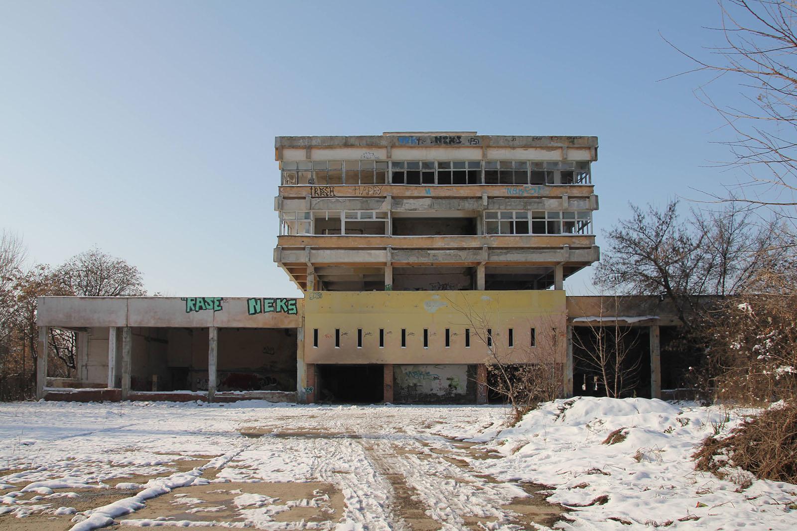 imagine exterioară - zona spaţiului industrial - Poligrafie - Timişoara