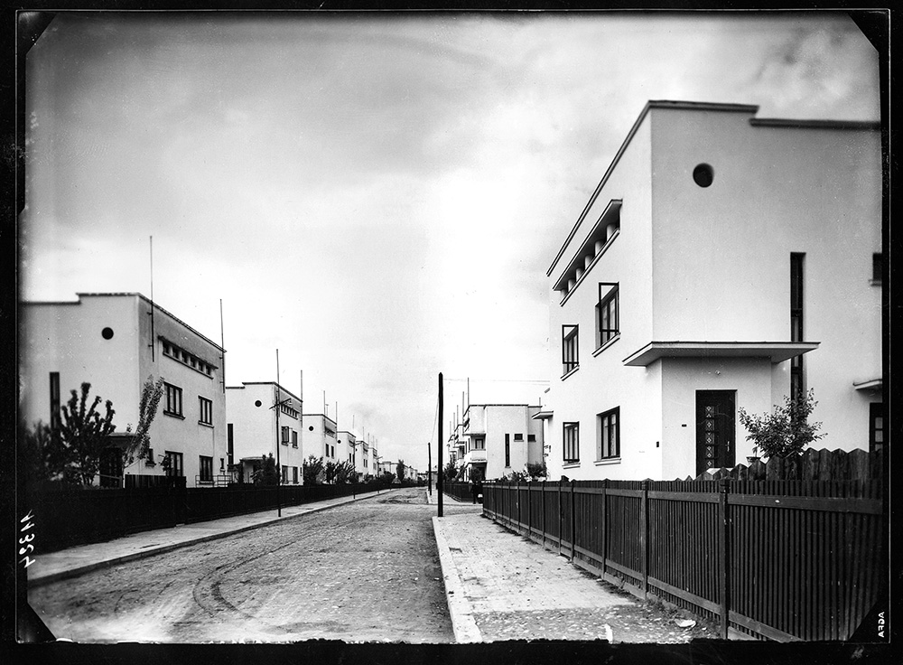 Lotizare Vatra Luminoasă (1930), locuințe sociale. Arh. I. Hanciu