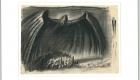 """""""Mefisto demon deasupra orașului"""" de Robert Herlth (1893‐1962); © Robert Herlth; Deutsche Kinemathek Berlin"""