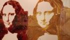 Vik Muniz, Double Mona Lisa, After Warhol (Peanut Butter + Jelly) © Vik Muniz/VAGA, NY (detaliu)